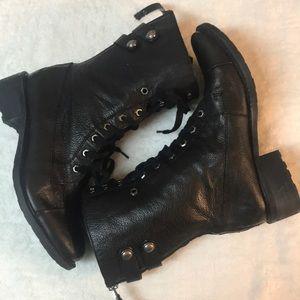 Sam Edelman black leather Darwin combat boots 9.5
